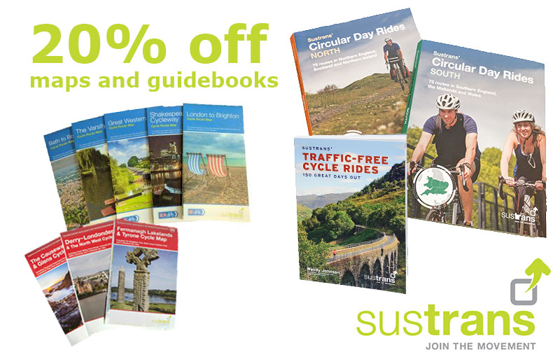 20% off maps and guides in Sustrans' shop